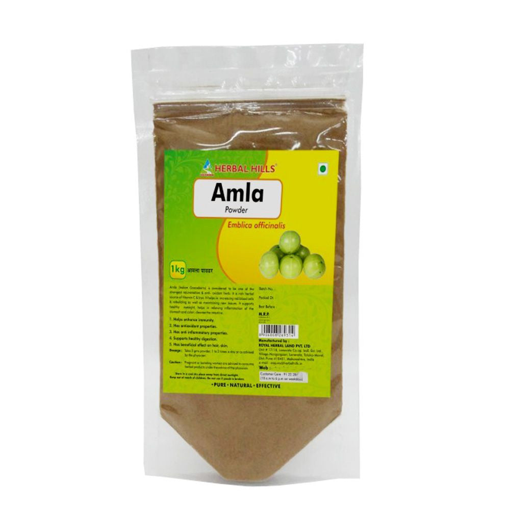Herbal Hills Amla Powder 1KG For Hair, Skin Healthy Digestion
