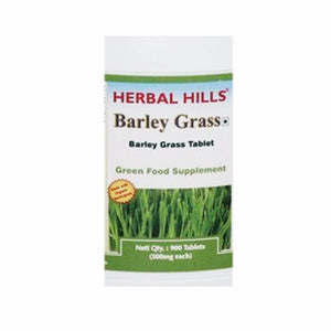 Herbal Hills Barley Grass Organic Tablets for Healthy Cell Care 900 Tablets