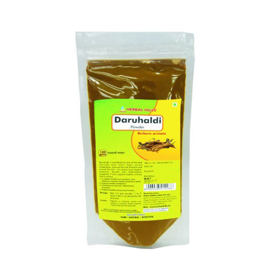 Herbal Hills Daru Haldi Powder 1kg For Supports Healthy Metabolism