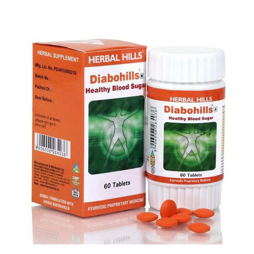 Herbal Hills Diabohills Ayurvedic Tablets for Healthy Blood Sugar 60 Tablets