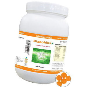 Herbal Hills Diabohills Ayurvedic Tablets for Healthy Blood Sugar 900 Tablets