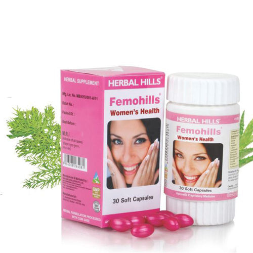 Herbal Hills Femohills 30 Capsules For Maintains Menstrual & Hormonal Balance