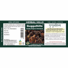 Herbal Hills Guggulhills Ayurvedic Tablets-Healthy Weight and Cholesterol 60 Tablets