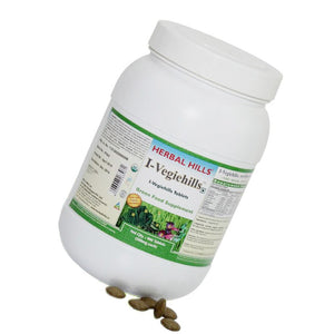 Herbal Hills I-Vegiehills Organic Food Supplement for Immunity 900 tablets