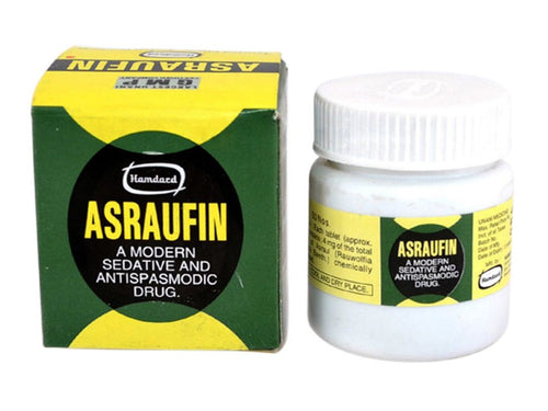 Hamdard Asraufin Sedative And Antispasmodic Product For Heart Health-50 Tablets Available