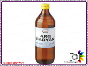 100% Pure Hamdard Herbal Arq Badyan-500 Ml -Liver & Stomach