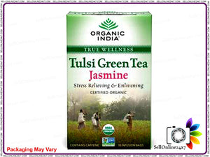 Tulsi Green Tea Jasmine For   Improves Digestion And Metabolism - 18 Tea Bags Available
