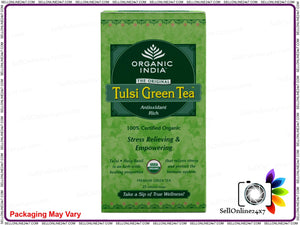 Real Organic Tulsi Greean Tea- For A Natural Health & Energy Boost (25 Tea Bags) Available