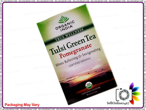 100% Real Organic Tulsi Green Tea (Pomegranate)- Symbol Of Good Health & Energy