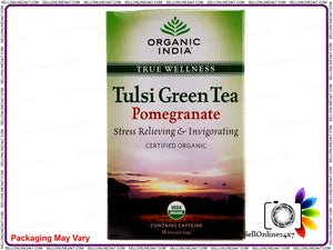 100% Real Organic Tulsi Green Tea (Pomegranate)- Symbol Of Good Health & Energy Available