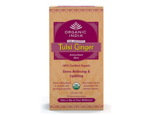 100% Certified Tulsi Ginger Tea-Unique Combination Of Taste-25 tea bags Available