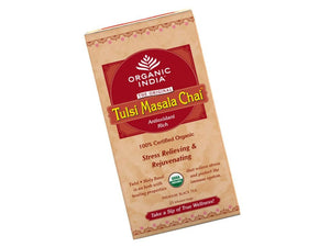 100% Real Organic India Tulsi Masala Chai- Sweet, Spicy And Enlightening