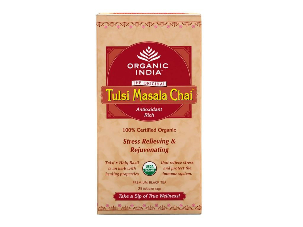 100% Real Organic India Tulsi Masala Chai- Sweet, Spicy And Enlightening Available