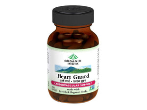 100% Certified Organic India Heart Guard -60 Veg Caps Available