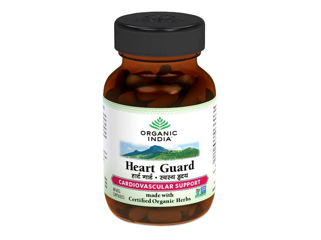 100% Certified Organic India Heart Guard -60 Veg Caps