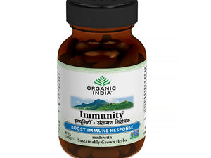 100% Organic India Immunity Capsules- For Healthy & Strong Immune System - 60 caps