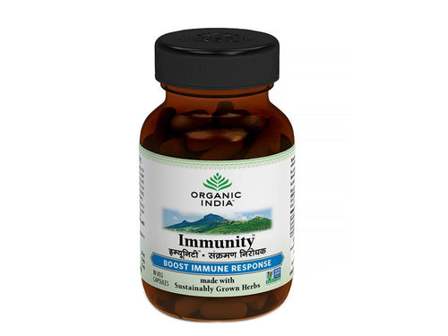 100% Organic India Immunity Capsules- For Healthy & Strong Immune System - 60 caps Available