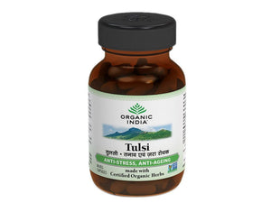 100% Certified Organic India Tulsi Holy Basil 60 Veg Caps- Boosts Immunity Available