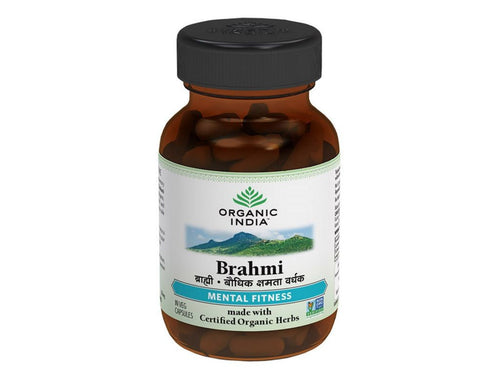 Organic India Brahmi 60 Veg Caps - Improves Learning, Concentration & Memory Available