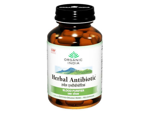 Herbal Antibiotic Organic India - Blood Purifier Supplement - 60 Capsules Available