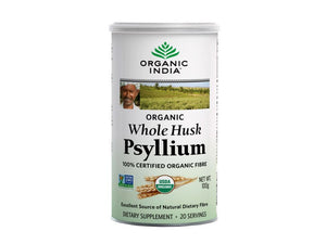 Organic India's Certified Organic Whole Husk Psyllium- Contains No Sugar Sodium Available