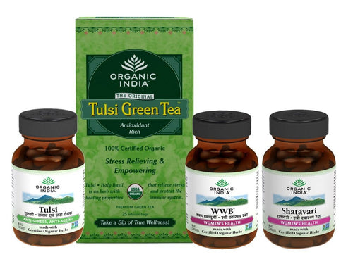 Organic India Women Optimal Combo Pack-Health Suppliment- Certified Organic Herb Available