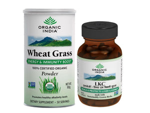 Organic India Anemia Support Wheatgrass 100 Gms LKC 60 Capsules Available