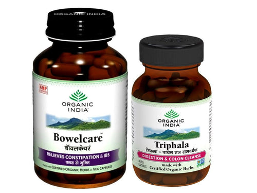 100% Certified Organic India Constipation Relief Complete Care Combo (Capsules)