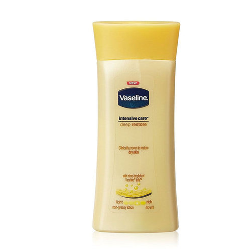 Vaseline Intensive Care Deep Restore Body Lotion For Dry Skin -  40 Ml Available