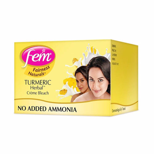 Fem Fairness Naturals Turmeric Herbal Bleach- Gives Glow To Skin 8gm Available