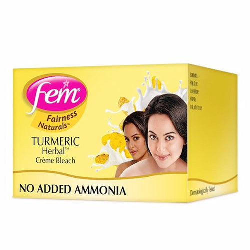 Fem Fairness Naturals Turmeric Herbal Bleach- Gives Glow To Skin 24gm