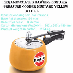 Ceramic-Coated Hawkins Contura Pressure Cooker High Quality Cookware 3 Ltr