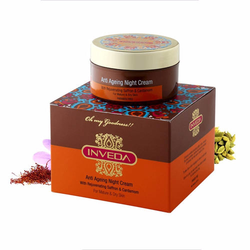Inveda Anti Ageing Night Cream 50GM For Mature & Dry Skin Available