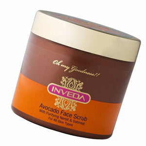 Inveda Avocado Face Scrub 100GM gently For Exfoliates Skin & Removes Dead Cells