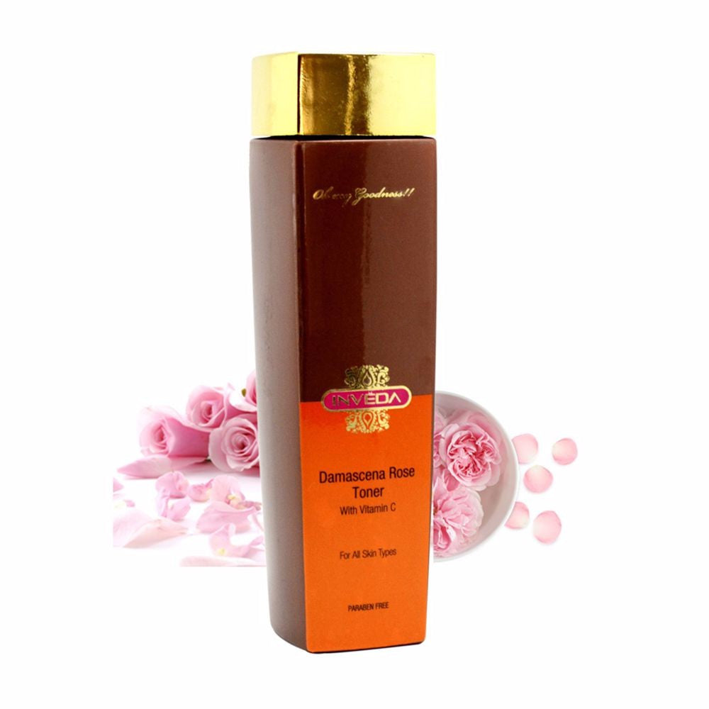 Inveda Skin Protectors Damascena Rose Face Toner For All Skin Type 200Ml Available