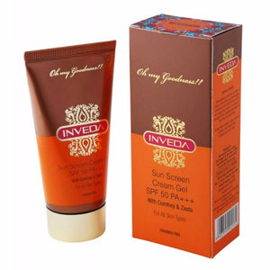 Inveda Sun Screen Cream Gel  50 ML With Comfrey & Zasta SPF 50
