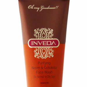 Inveda Purifying Neem & Gotukola Anti Acne Face Wash 100Ml