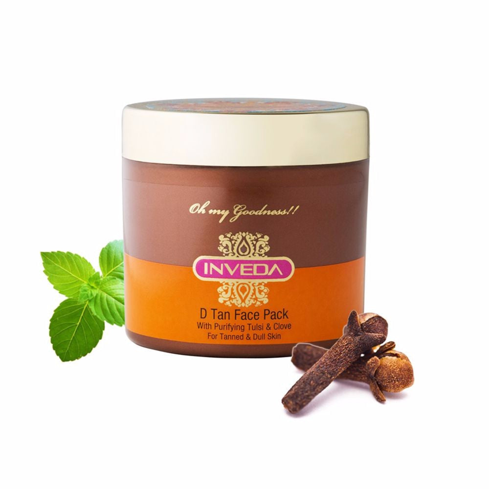 Inveda D Tan Face Pack With Purifying Tulsi & Clove 100 ML Available