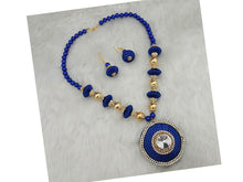Indian Designer Jewelry Bollywood Style Blue Thread Gold Plated Necklace Set