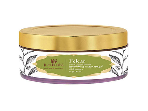 New Just Herbs I'clear Green Tea-Cucumber Nourishing Under Eye Gel ,50gm Available at BuyIndianProducts24x7.com