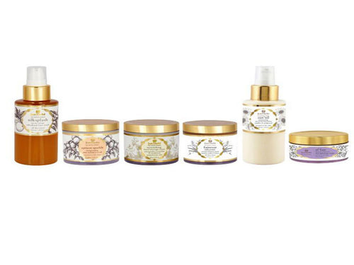 New Just Herbs 6 step organic skincare regime for normal/dry skin Available at BuyIndianProducts24x7.com