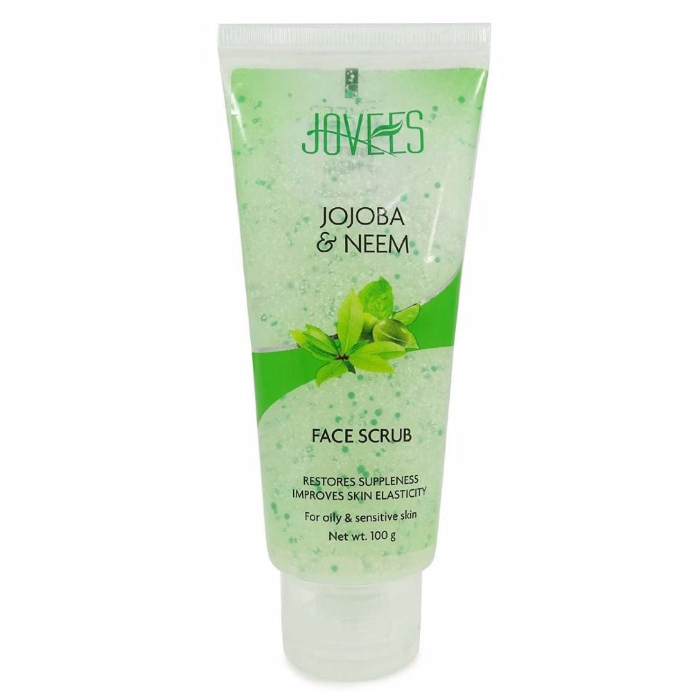 Jovees Jojoba &Wheatgerm Face Scrub-Deep cleanses the skin-100 Gms For Women Available