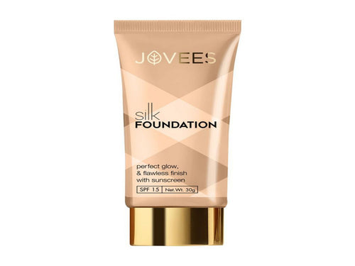 Jovees Silk Foundation for Perfect Glow & Flawless Finish With Sunscreen 30gm Available