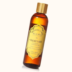 100% Natural Kama Ayurved Madhuvanti Calming Massage Oil
