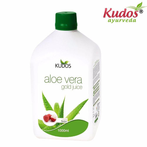 Kudos Aloe Vera Gold Juice Litchi Flavor -Pure Natural Herbals Available