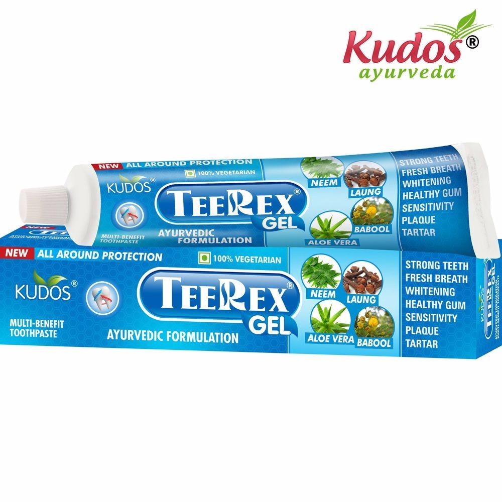 Kudos Ayurveda Teerex Gel Toothpaste-Helpful in tooth ache-100Gms Available