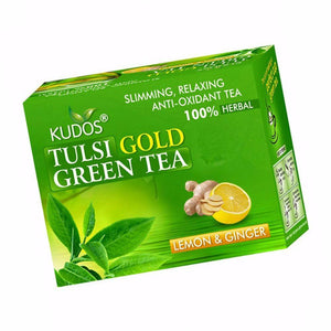 Kudos Tulsi Gold Green Tea-Pure Natural - 2GX25 Tea Bags