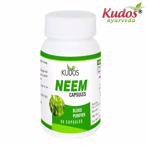 100% Pure Natural Herbals -Kudos Neem Capsules - 60 Capsules Available
