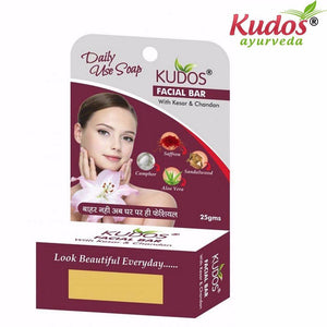 Kudos Facial Bar Soap-Reduces pimple & blemishes Makes- 25gm Available