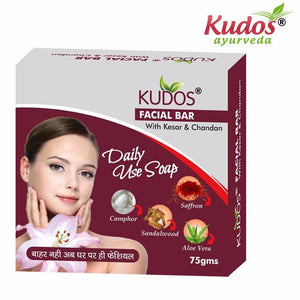 Kudos Facial Bar Soap-Reduces pimple & blemishes Makes- 75gm Available